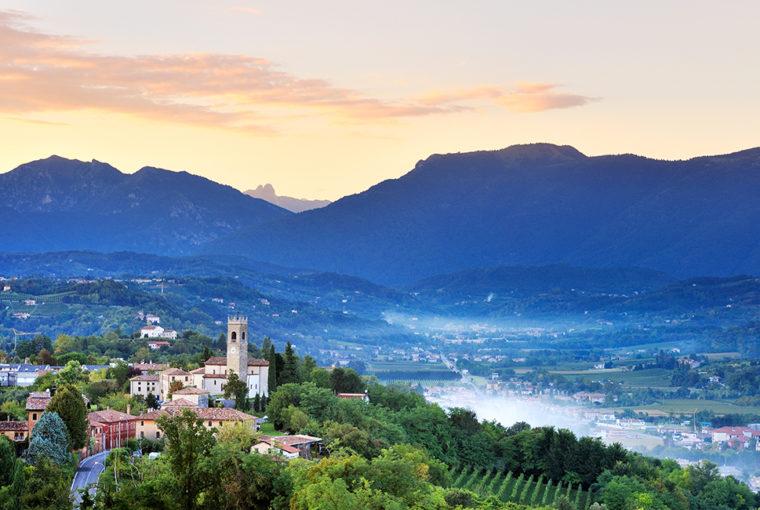 Prosecco - region Conegliano Valdobbiadene